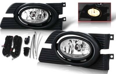 WinJet - Honda Accord 4DR WinJet OEM Fog Light - Smoke - Wiring Kit Included - WJ30-0103-11