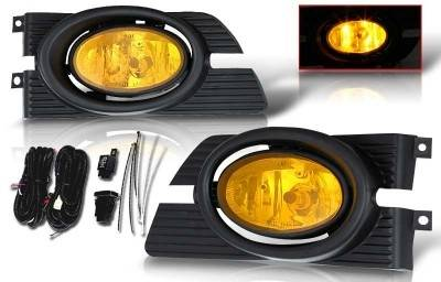 WinJet - Honda Accord 4DR WinJet OEM Fog Light - Yellow - Wiring Kit Included - WJ30-0103-12