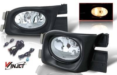 WinJet - Honda Accord 4DR WinJet OEM Fog Light - Clear - Wiring Kit Included - WJ30-0104-09