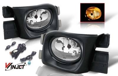 WinJet - Honda Accord 4DR WinJet OEM Fog Light - Smoke - Wiring Kit Included - WJ30-0104-11