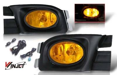 WinJet - Honda Accord 4DR WinJet OEM Fog Light - Yellow - Wiring Kit Included - WJ30-0104-12