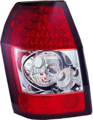 APC - Dodge Magnum APC LED Taillights with Red & Clear Lens - 406825TLR