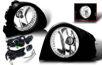 WinJet - Scion xA WinJet OEM Fog Light - Smoke - Wiring Kit Included - WJ30-0107-11
