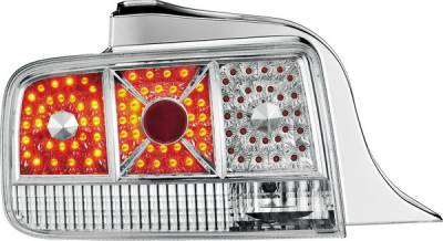 APC - Ford Mustang APC Diamond Cut Taillights with Chrome Housing - 407513TLC