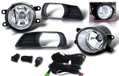 WinJet - Toyota Camry WinJet OEM Fog Light - Clear - Wiring Kit Included - WJ30-0109-09