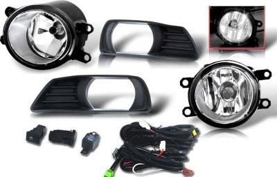 WinJet - Toyota Camry WinJet OEM Fog Light - Smoke - Wiring Kit Included - WJ30-0109-11