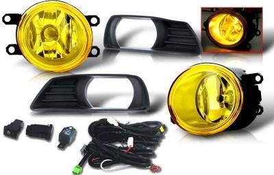 WinJet - Toyota Camry WinJet OEM Fog Light - Yellow - Wiring Kit Included - WJ30-0109-12