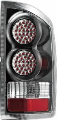 APC - Dodge Ram APC Diamond Cut Taillights with Black Housing - 407524TLB