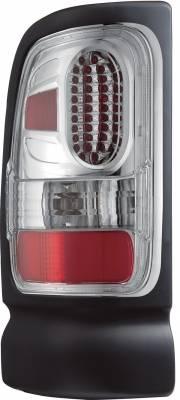 APC - Dodge Ram APC Diamond Cut Taillights with Chrome Housing - 407536TLC