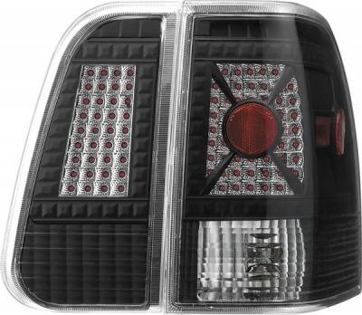 APC - Lincoln Navigator APC Diamond Cut Taillights with Black Housing - 407592TLB