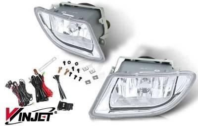 WinJet - Honda Odyssey WinJet OEM Fog Light - Clear - Wiring Kit Included - WJ30-0134-09