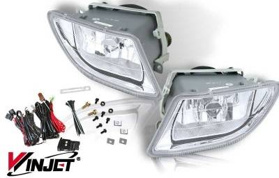 WinJet - Honda Odyssey WinJet OEM Fog Light - Clear - Wiring Kit Included - WJ30-0135-09