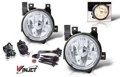 WinJet - Honda Element WinJet OEM Fog Light - Clear - Wiring Kit Included - WJ30-0139-09
