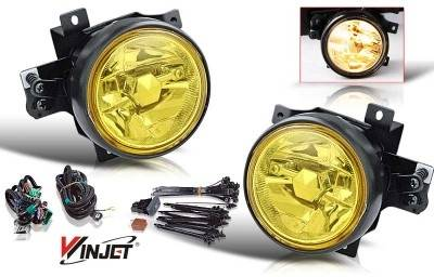 WinJet - Honda Element WinJet OEM Fog Light - Yellow - Wiring Kit Included - WJ30-0139-12