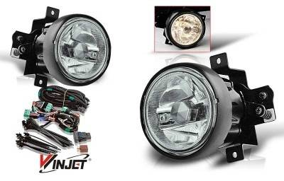 WinJet - Honda Element WinJet OEM Fog Light - Smoke - Wiring Kit Included - WJ30-0140-11
