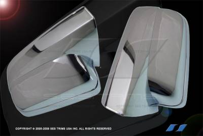 SES Trim - Ford Mustang SES Trim ABS Chrome Mirror Cover - MC105F