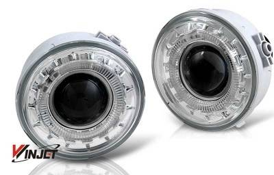 WinJet - Ford F150 WinJet Halo Projector Fog Light - Clear - WJ30-0155-09