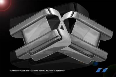 SES Trim - Ford Superduty SES Trim ABS Chrome Mirror Cover - MC120F