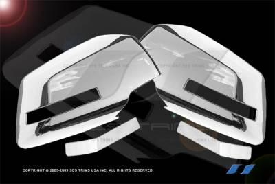 SES Trim - GMC Acadia SES Trim ABS Chrome Mirror Cover - MC121F