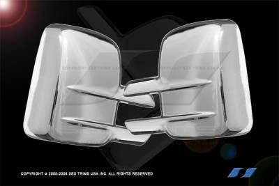 SES Trim - Chevrolet Silverado SES Trim ABS Chrome Mirror Cover - MC123F