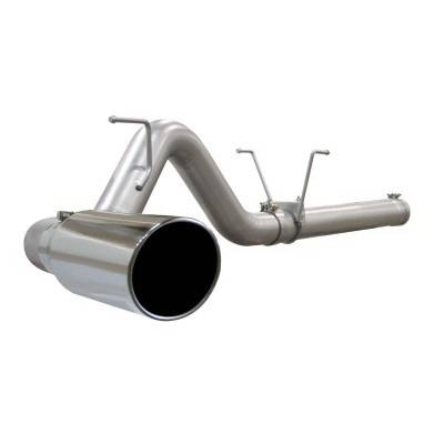aFe - Dodge Ram aFe Large Bore HD DPF-Back Exhaust System Aluminum - 49-12006