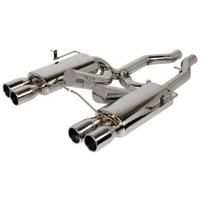 aFe - BMW 3 Series aFe Mach Force XP Exhaust System - Polished Stainless Steel - 49-36304