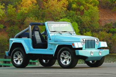 Xenon - Jeep Wrangler Xenon Front Bumper Cover with Round Light Openings - 8741