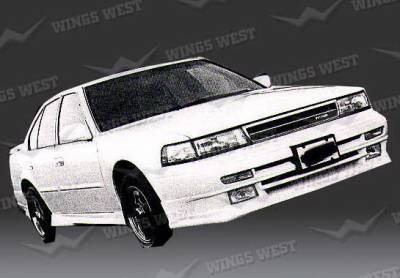 Wings West - Nissan Maxima Wings West Custom Style Front Air Dam - Fiberglass - 49144