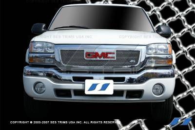 SES Trim - GMC Sierra SES Trim Chrome Plated Stainless Steel Mesh Grille - MG104