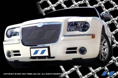 SES Trim - Chrysler 300 SES Trim Chrome Plated Stainless Steel Mesh Grille - MG107
