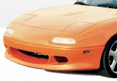 VIS Racing - Mazda Miata VIS Racing W-Type Front Lip - Fiberglass - 490009