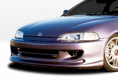 Wings West - Honda Civic 2DR & HB Wings West W-Type Front Bumper Cover - Fiberglass - 490069