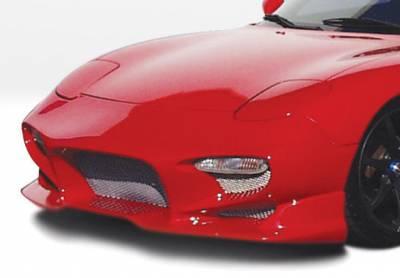 VIS Racing - Mazda RX-7 VIS Racing Aggressor Front Bumper Cover - Fiberglass - 490143