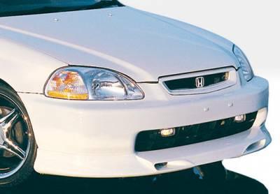 VIS Racing - Honda Civic VIS Racing Racing Series Front Lip - Polyurethane - 890129