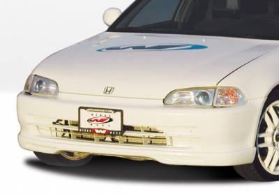 VIS Racing - Honda Civic 4DR VIS Racing Racing Series Front Lip - Polyurethane - 890138