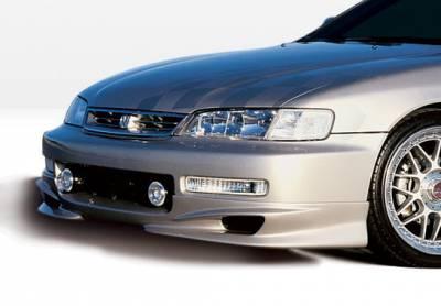 VIS Racing - Honda Accord VIS Racing W-Type Front Lip - Polyurethane - 890183