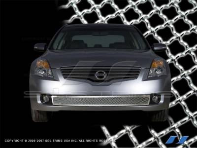 SES Trim - Nissan Altima SES Trim Chrome Plated Stainless Steel Mesh Grille - Bottom - MG157B