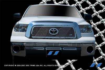 SES Trim - Toyota Tundra SES Trim Chrome Plated Stainless Steel Mesh Grille - MG170A-B