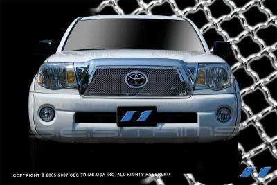 SES Trim - Toyota Tacoma SES Trim Chrome Plated Stainless Steel Mesh Grille - MG171