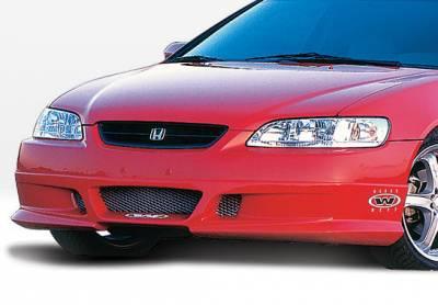VIS Racing - Honda Accord 2DR VIS Racing W-Type Front Lip - Polyurethane - 890280