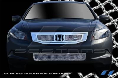 SES Trim - Honda Accord 4DR SES Trim Chrome Plated Stainless Steel Mesh Grille - Bottom - MG189B