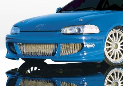 VIS Racing - Honda Civic 2DR & Hatchback VIS Racing Bigmouth Front Bumper Cover - 890333