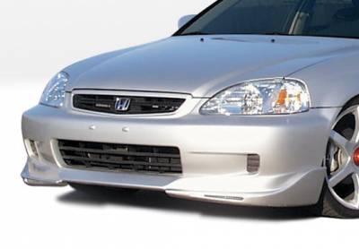 VIS Racing - Honda Civic VIS Racing W-Type Front Lip - Polyurethane - 890373