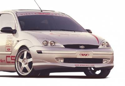 VIS Racing - Ford Focus ZX5 VIS Racing W-Type Front Lip - Polyurethane - 890382