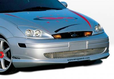 VIS Racing - Ford Focus 4DR VIS Racing W-Type Front Lip - Polyurethane - 890482