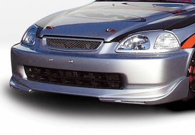VIS Racing - Honda Civic VIS Racing W-Type Front Lip - Polyurethane - 890500