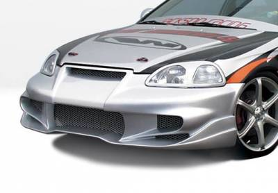 VIS Racing - Honda Civic VIS Racing Tuner Type 2 Front Bumper Cover - 890506