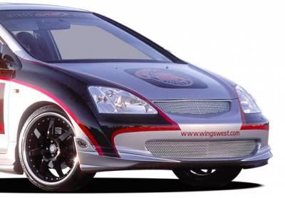 VIS Racing - Honda Civic HB VIS Racing G-55 Series Front Lip - Polyurethane - 890749