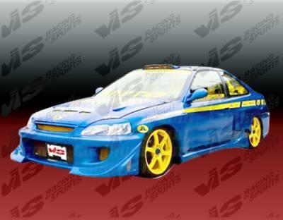 VIS Racing - Honda Civic 2DR VIS Racing Battle Z Front Bumper - 01HDCVC2DBZ-001