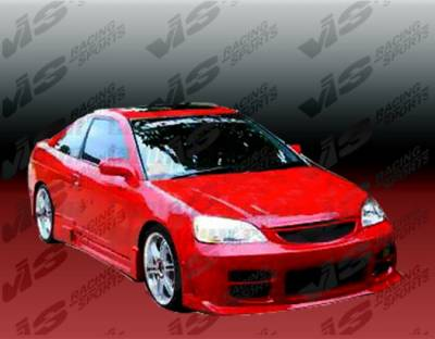 VIS Racing - Honda Civic 2DR & 4DR VIS Racing Octane Front Bumper - Polyurethane - 01HDCVC2DOCT-001P